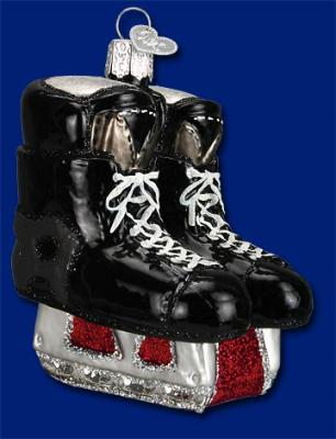 old world christmas hockey skates