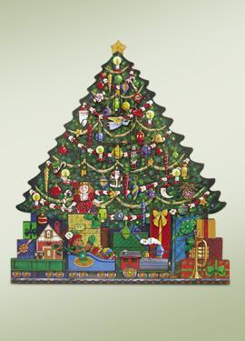 byers choice wooden christmas tree advent calendar