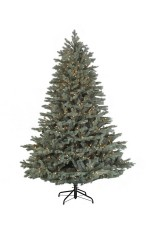 Harrison Blue Spruce Christmas Tree Clear lights multi lights