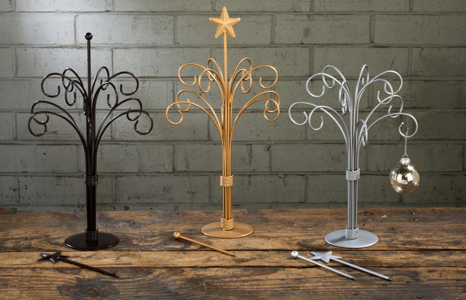 Metal 12 Arm Silver Gold Or Brown Ornament Stand