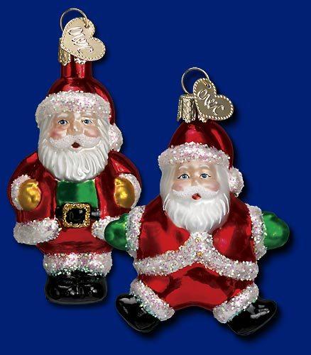 Old World Christmas Miniature Santa Ornament