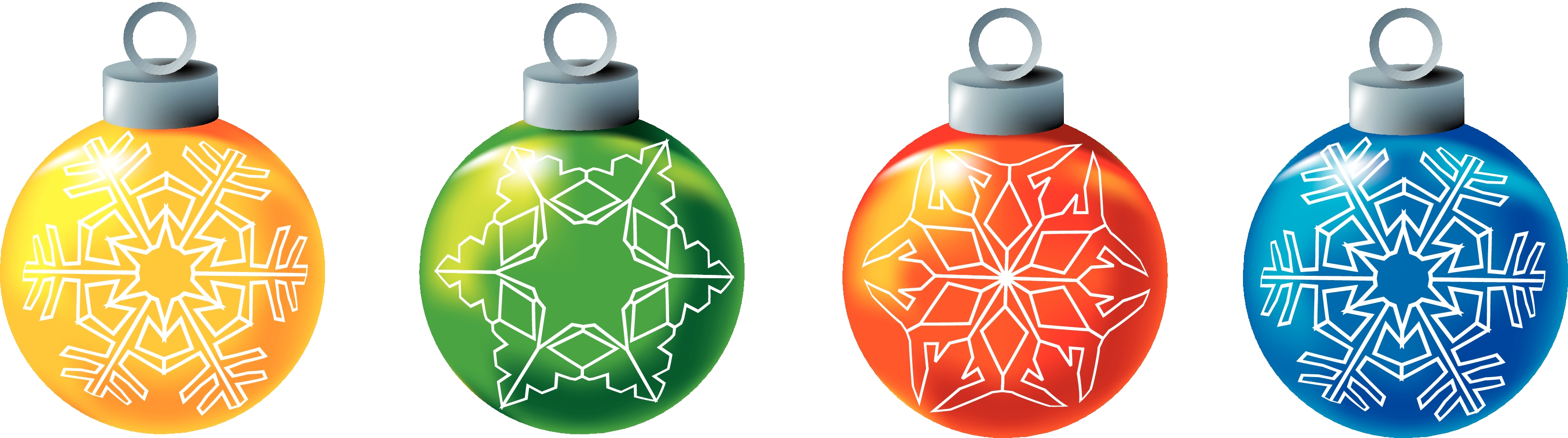 Colorful Snowflake Ornament  Row