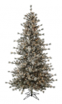 Alaskan Lit Frosted Christmas Tree with Clear Lights