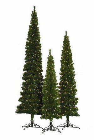 whistler pine pre lit pencil artificial christmas tree - Pre Lit Pencil Christmas Trees