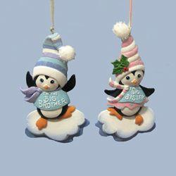 big brother big sister penguin ornament christmas store