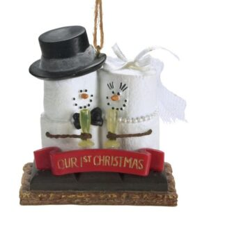 smore our first christmas bride and groom ornament - Our First Married Christmas Ornament