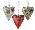 glass heart ornament treasure precious moments the ones you love flower jewel