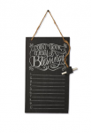 count your blessings chalkboard wall decoration