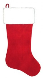 24 inch red velvet stocking with faux fur curr