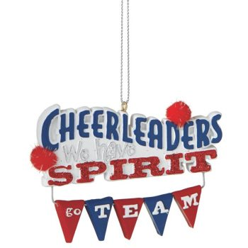 102009 cheerleader ornament we have spirit
