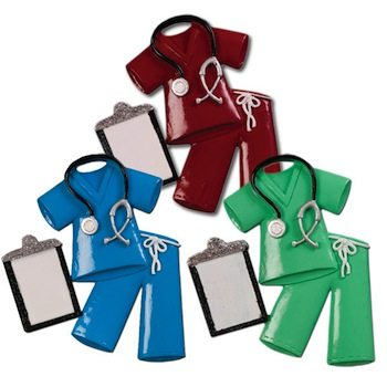 ogg028 nurse and doctor scrubs ornament