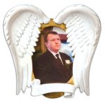 ogg080 loving memory angel wings frame memorial ornament