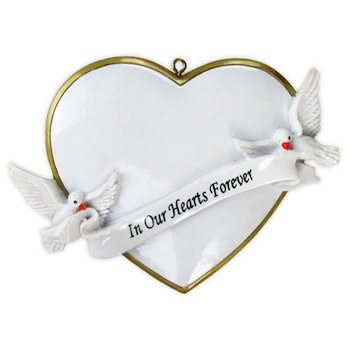 ogg081 in our hearts forever dove ornament