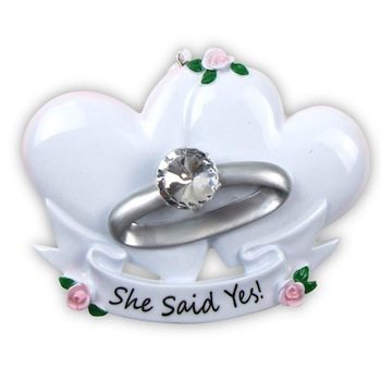 ogg090 she said yes engagement ring ornament