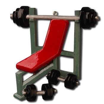ogg108 weight bench gym ornament
