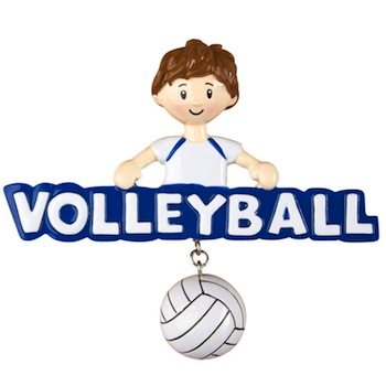 ogg266 volleyball boy ornament