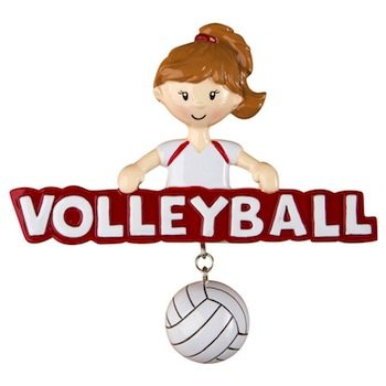 ogg267 volleyball girl ornament