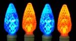 orange and blue c6 led bronco lights