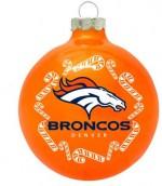 oto026 orange denver broncos ornament