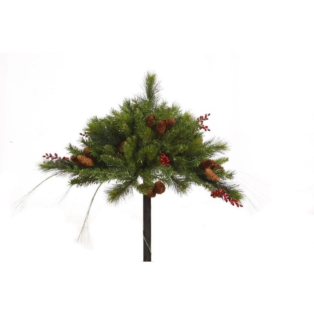wrd039 pine berry pine cone pot filler unlit