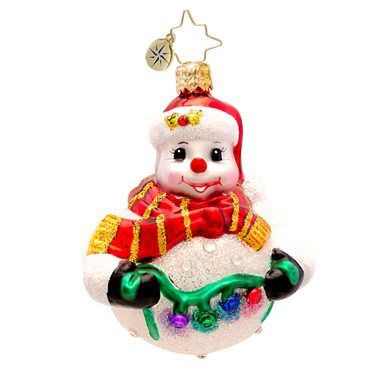 1017237 christopher radio tree trim frosty snowman ornament