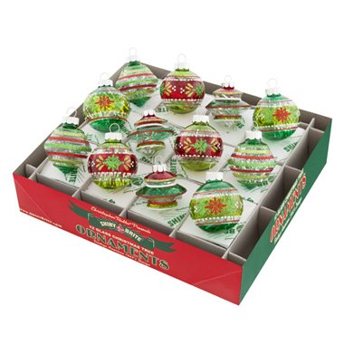 4026752 christopher radko boxed balls holiday splendor collection clear balls with tinsel