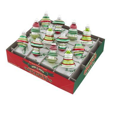 4026753 christopher radko boxed balls holiday splendor decorated shapes vintage inspired