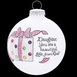 oh103 glass ball daughter ornament gift from god