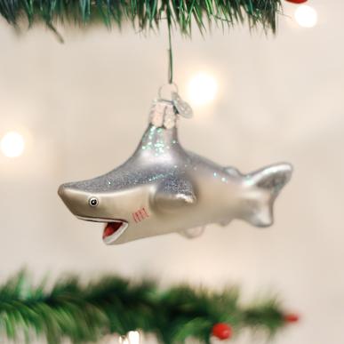 Old World Christmas Blown Glass Shark Onament Christmas Store