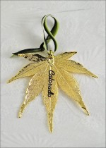 309LTRNG real japanese maple leaf ornament