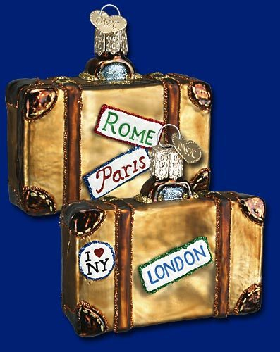 32105 old world christmas traveling suitcase