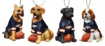 3OT3809DG denver broncos ornament denver broncos dog ornament