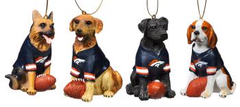 3OT3809DG denver broncos ornament denver broncos dog ornament