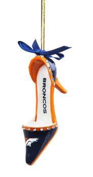 3OT3809HS denver broncos high heel ornament