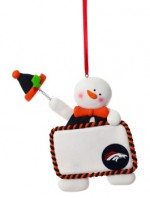 3OT3809PCS denver broncos snowman ornament personalizeable bronco ornament