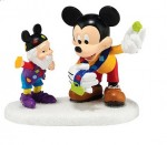 4044843 department 56 disney north pole series pin trading with mickey