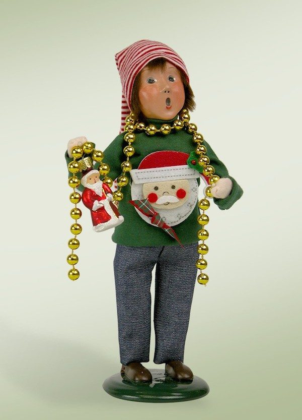 byers choice ugly sweater family boy caroler