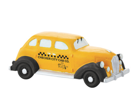 department 56 checker city cab