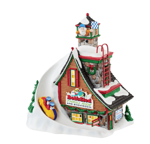 department 56 bobs sled thrill ride