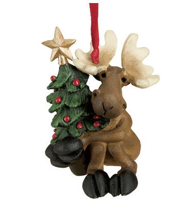 obf018 bear foot bears tree hugging moose ornament