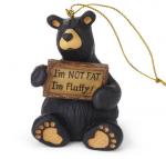 obf035 bear foot bears Im not Fat I'm Fluffy Ornament