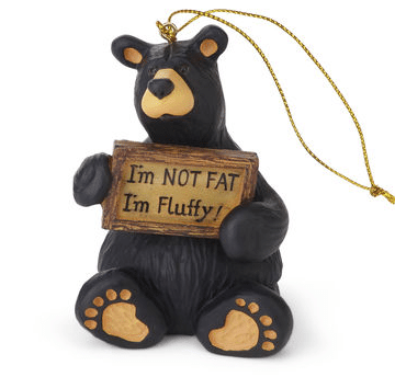 obf035 bear foot bears Im not Fat I'm Fluffy Ornament