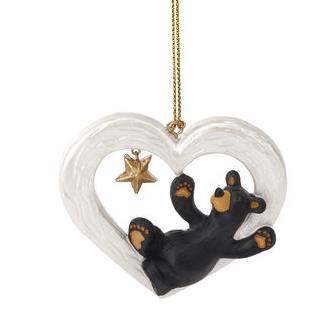 obf037 bear foot bear gotta have heart ornament