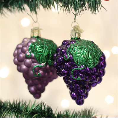 Old World Christmas Purple Grapes Ornament
