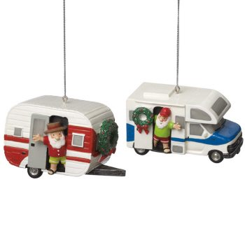 012505 santa in rv and camper ornaments