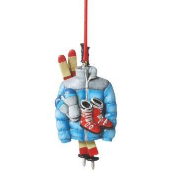 113186 ski gear ornament