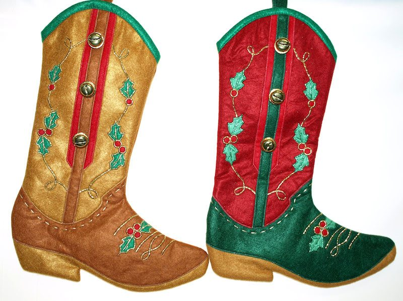 western boot christmas stockings cowboy boot stockings