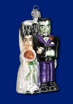 26065 old world christmas frankenstein and bride ornament