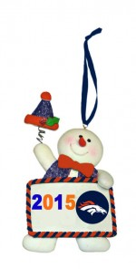 2015 ornament snowman bronco ornament
