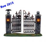 4047599 department 56 snow village halloween new 2015 spooky wrought iron gate